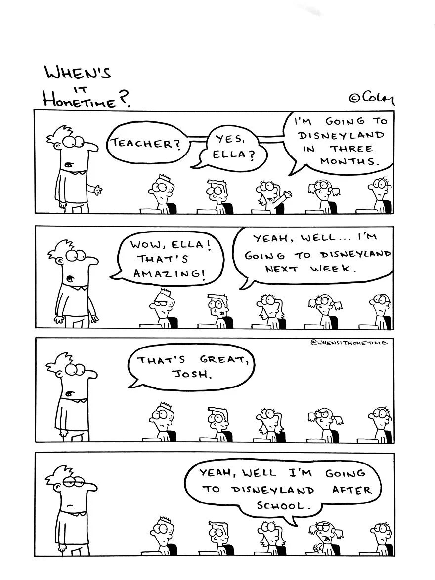 Whens it Hometime humor ilustracion clases 19