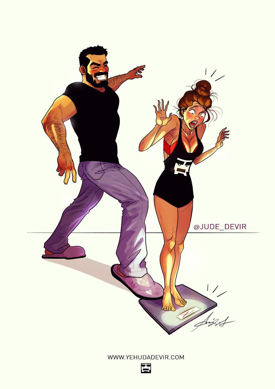 Yehuda Adi Devir simpaticas ilustraciones amor 12