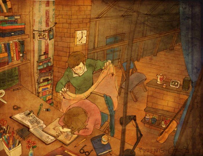 Puuung ilustraciones amor10