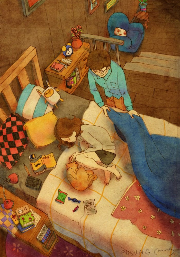 Puuung ilustraciones amor12