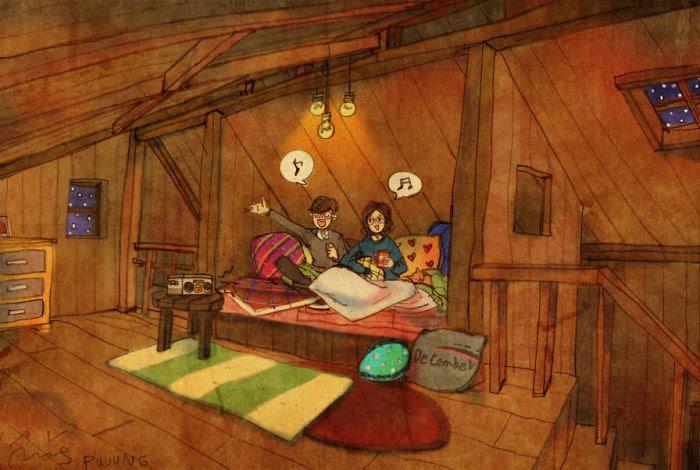 Puuung ilustraciones amor9