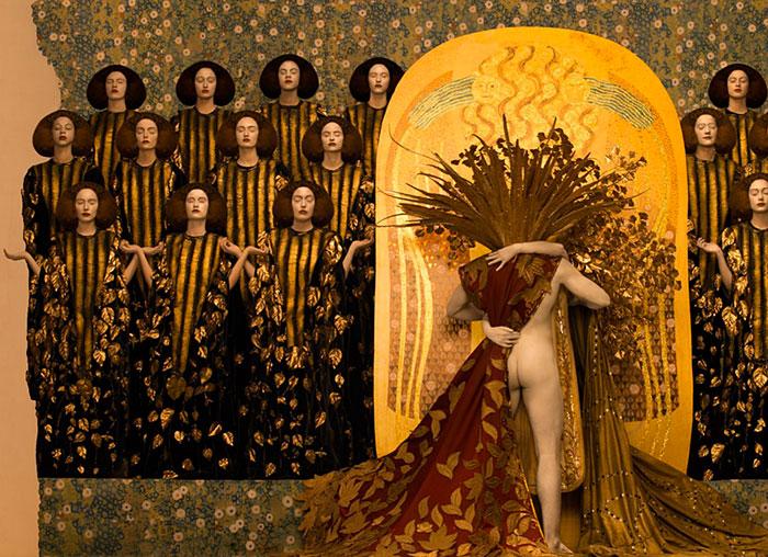 Inge Prader Gustav Klimt LifeBall Vienna6