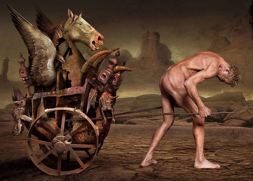 Igor Morski oscuras surrealistas ilustraciones 21