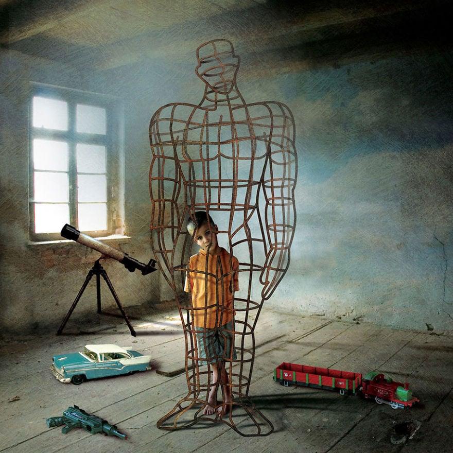 Igor Morski oscuras surrealistas ilustraciones 4