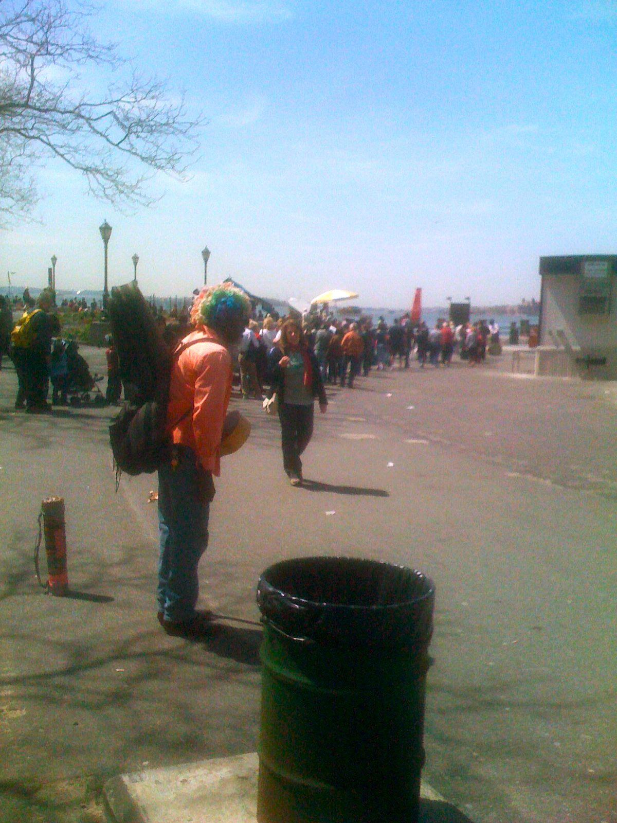 Busker in Battery Park