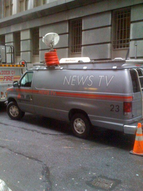 Fake news van