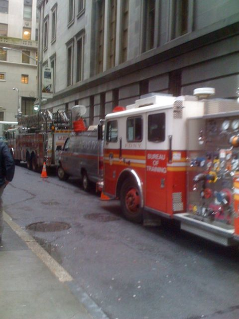 Fake fire trucks