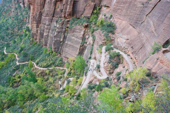 Making our way up Angel's Landing