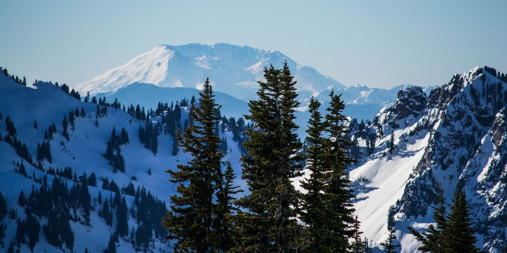 The view from Mount Rainier, Washington