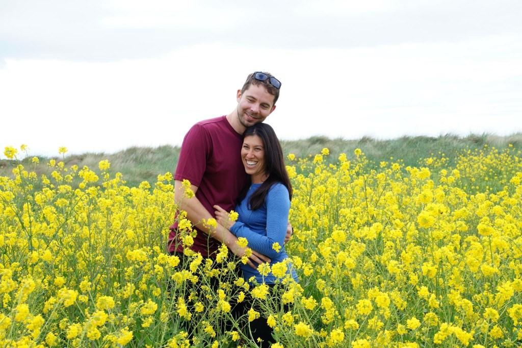 Flower fields in Port Townsend, Washington