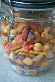 Home made trail mix.