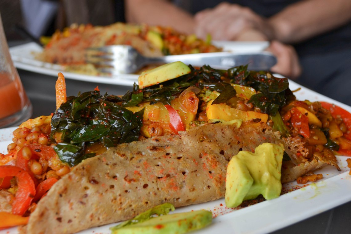 Namaste Cafe, Salento, Colombia - Vegetarian Crepe