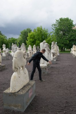 Human-sized chess pieces