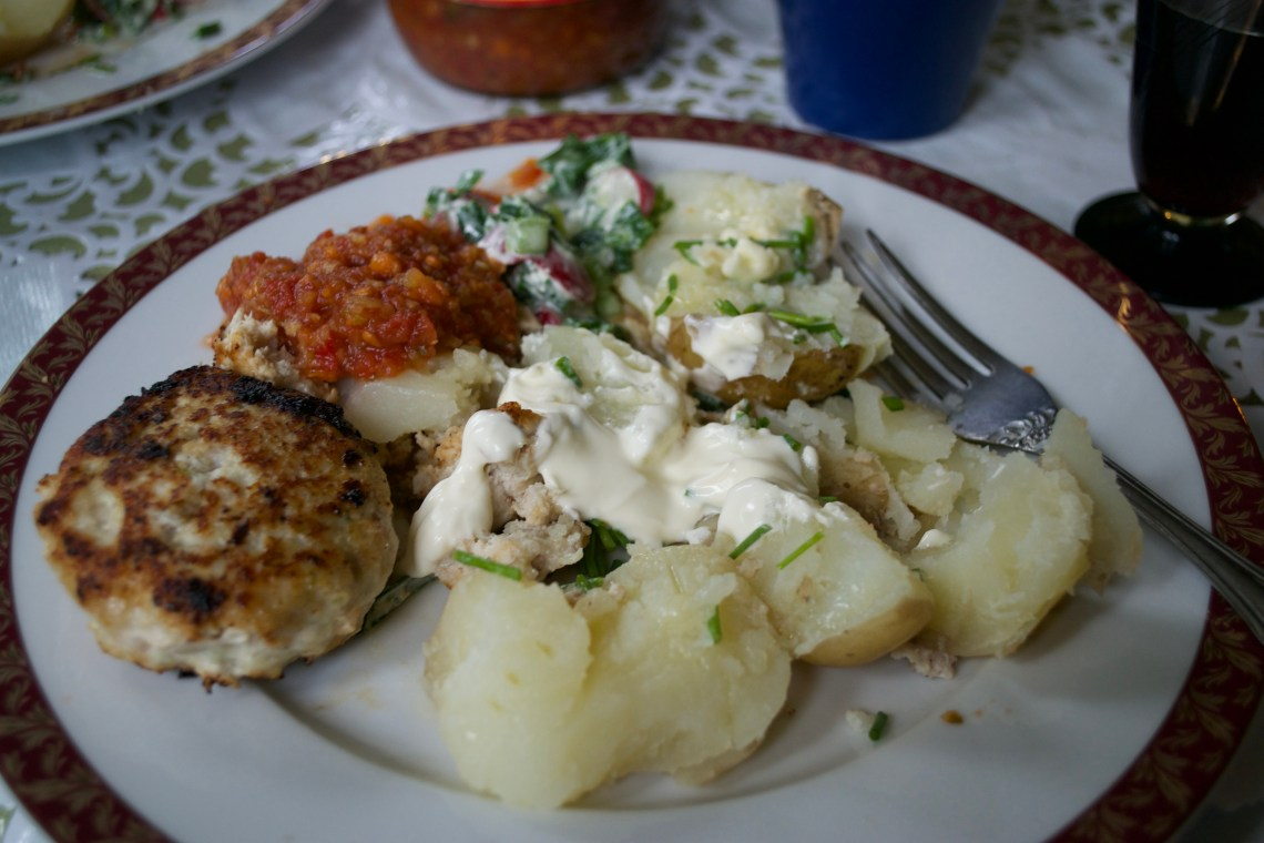 Typical Russian Food - Chicken Cutlets, St. Petersburg, Russia
