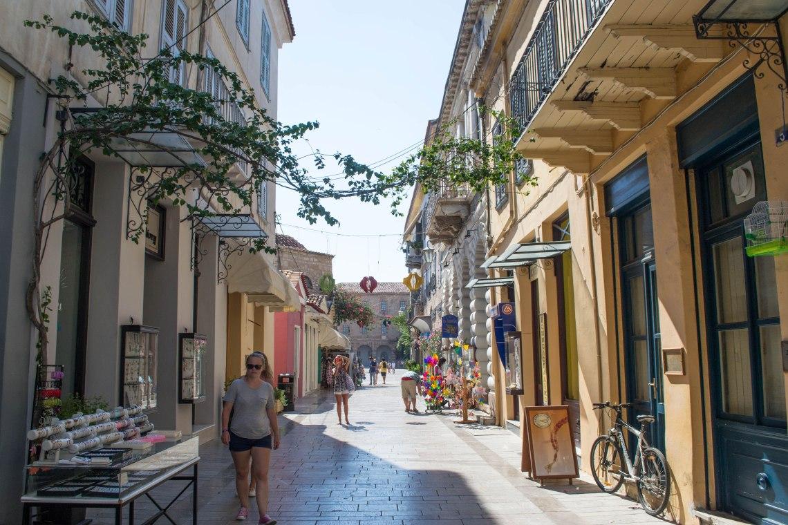 Cobblestone Streets in Nafplio, Greece