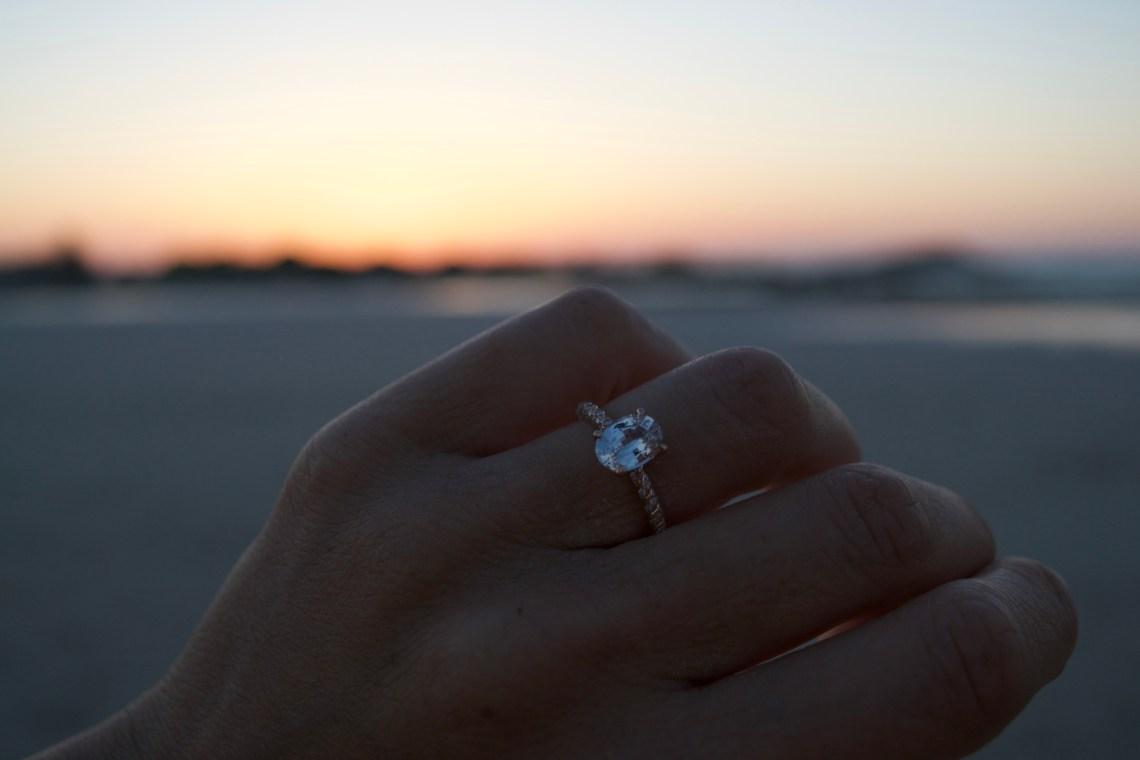 Engaged at Elafonisi Beach, Crete, Greece