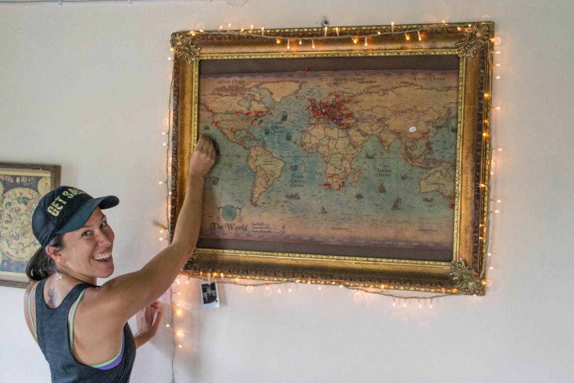 Vykos Gorge, Zagori, Greece - Pinning my home of Hawaii on the world map!