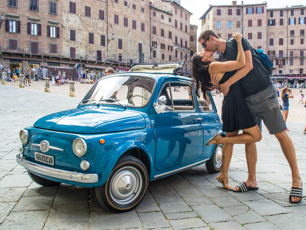 Siena, Italy with a Classic Fiat 500