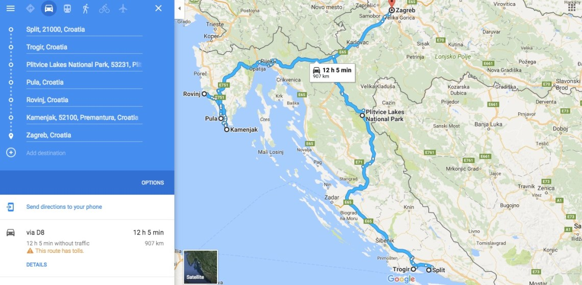 Croatia Road Trip Itinerary