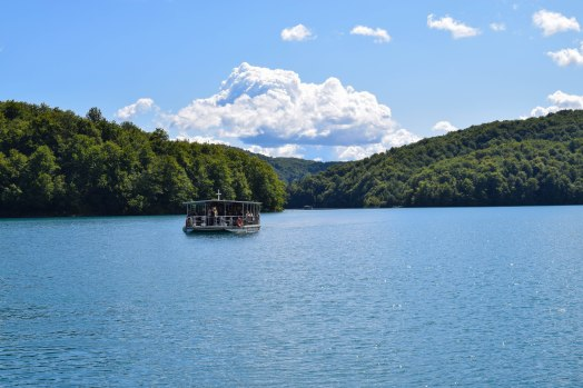 """Sitting on the dock of the bay....heading out to Plitvice Lakes"" ;)"