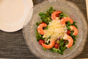 Fresh shrimp salad