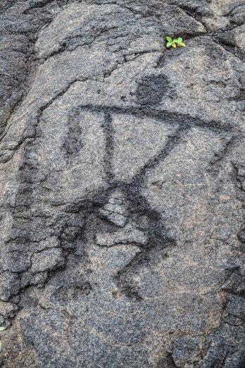 Petroglyphs at Volcanoes National Park on the Big Island