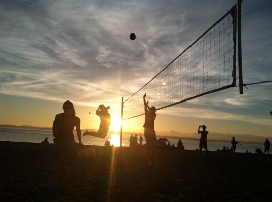 Beach Volleyball Golden Gardens Sunset