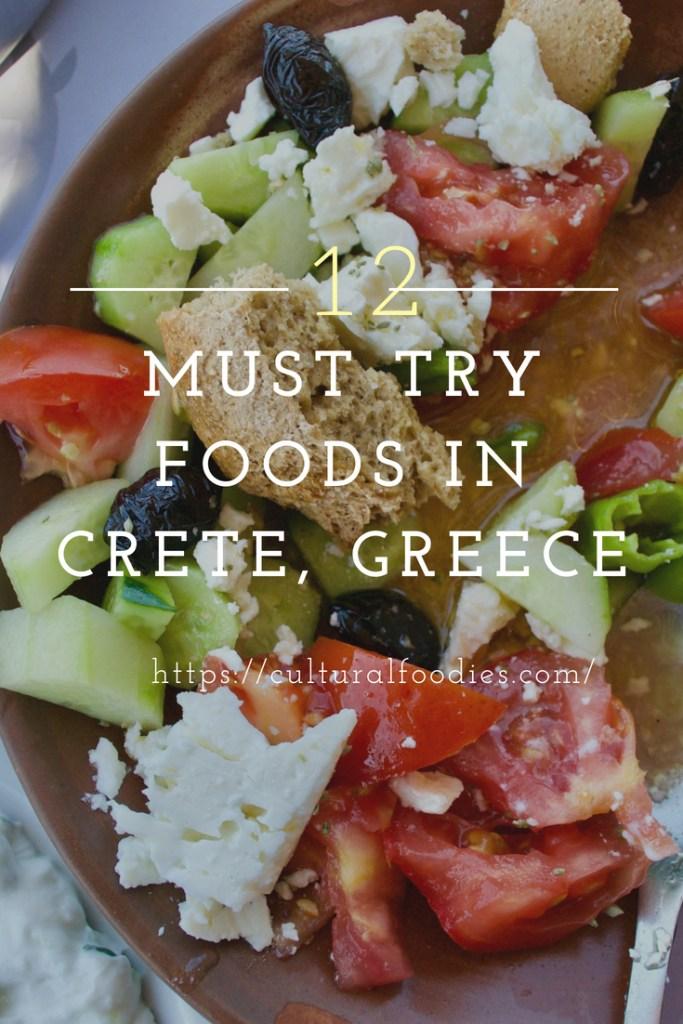 12 Must Try Foods in Crete, Greece