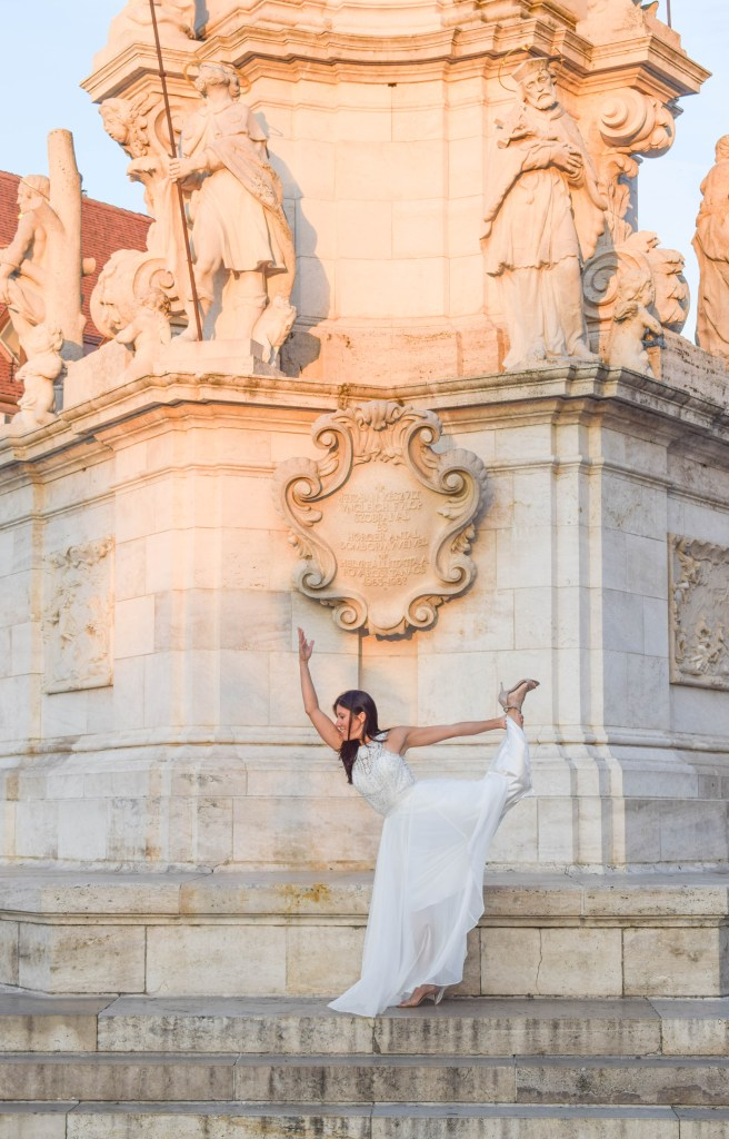 Wedding photoshoot at Fisherman's Bastion - Budapest, Hungary