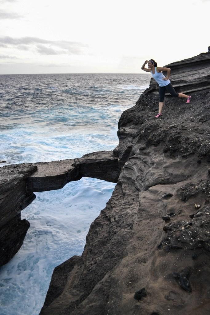 Hanauma Bay Rock Bridge, Oahu, Hawaii Hiking