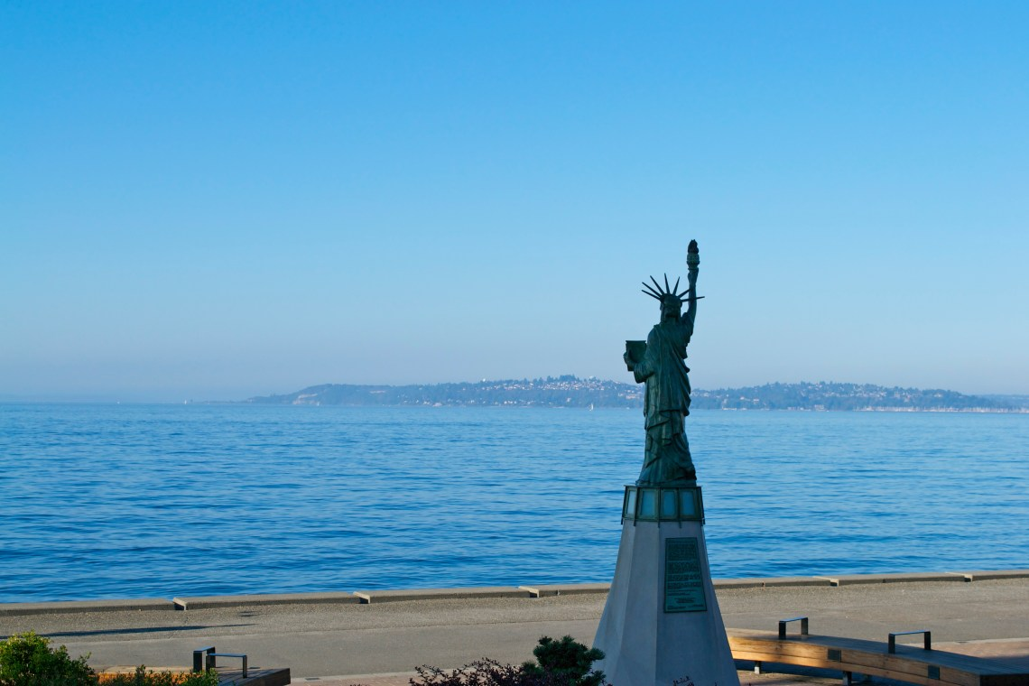 Alki Beach Mini Statue of Liberty