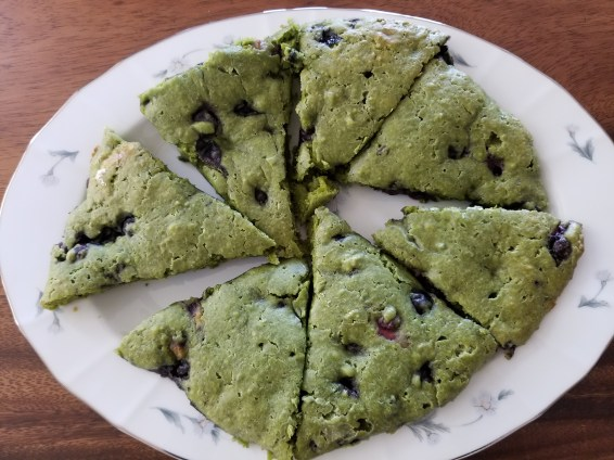 Matcha Bluberry Scones1