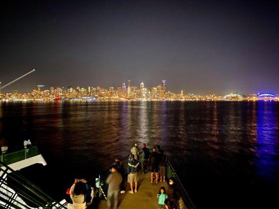Night Ferry City Lights