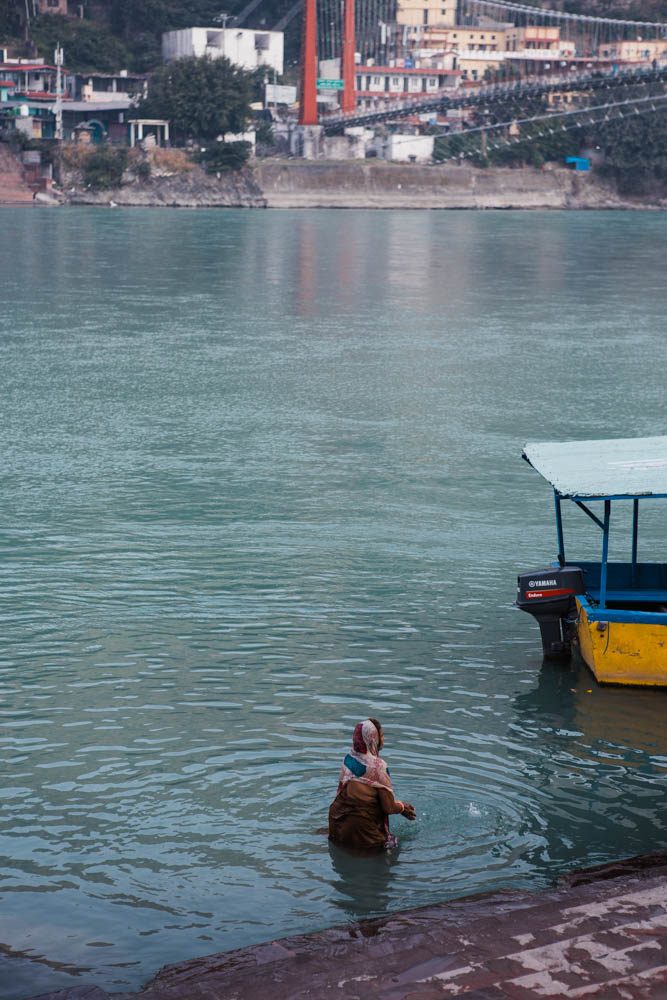 Bathing in the Ganga during early morning prayers at Rishikesh CulturallyOurs