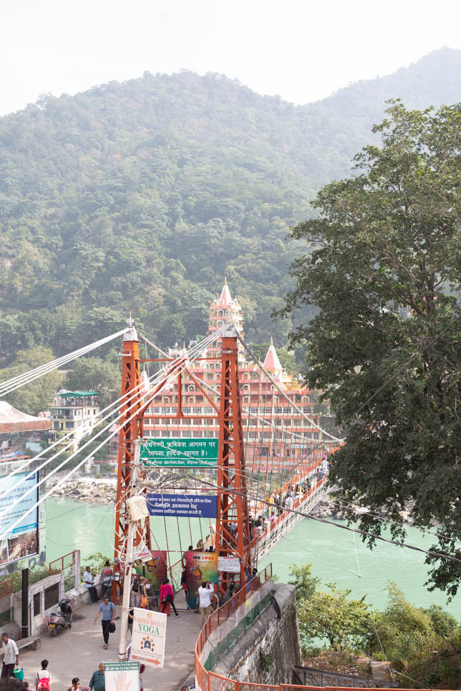 View of the famous Laxman Jhula in Rishikesh India CulturallyOurs