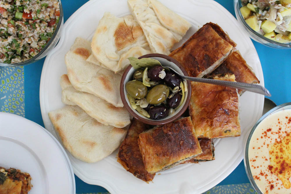 CulturallyOurs Food Guide From Kosovo Pita Burek Platter With Olives