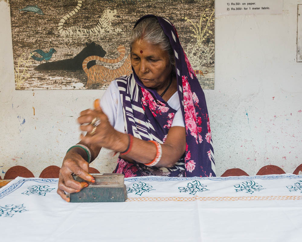 CulturallyOurs Block Printing Art From India Hand blocking tiger motifs
