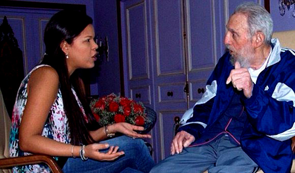 maria-and-fidel  Socialism Works Just Fine: Hugo Chavez's Favorite Daughter Is Now The Richest Person in Venezuela maria and fidel