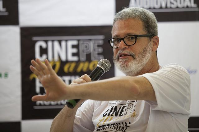 Eduardo Souza Lima, diretor de Bola para seu Danau. Paloma Rocha diretora e autora do filme Gramathyca. Foto: Daniela Nader/Divulgação.