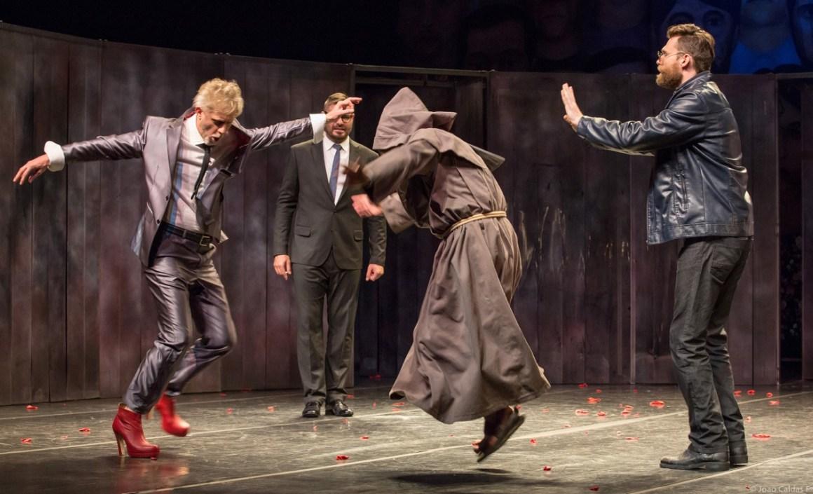 A comédia Medida por Medida faz parte do projeto Repertório Shakespeare. Foto: João Caldas/ Divulgação.