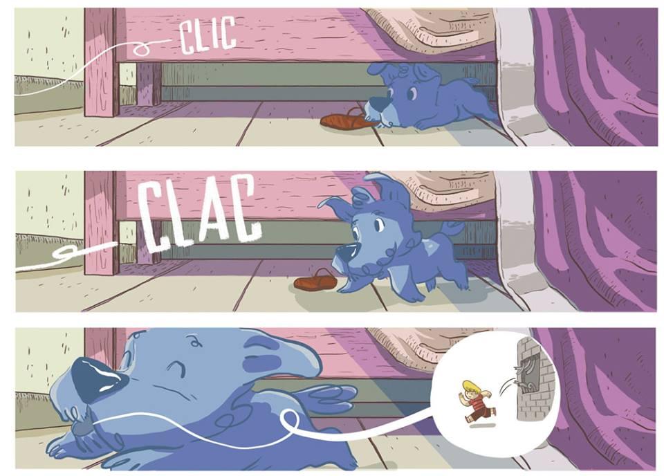 Como na primeira Graphic do Bidu, os balões com as falas do cãozinho serão compostos de desenhos.