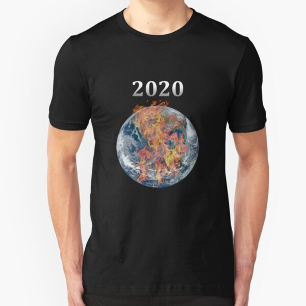 Pandemic, watching the world burn in 2020 World quarantine earth on fire t-shirt for men and women