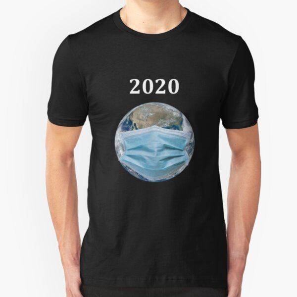 Pandemic, The whole earth is wearing masks in 2020 World quarantine mask t-shirt for men and women