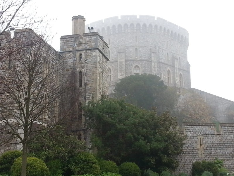 Foggy Windsor Castle Keep