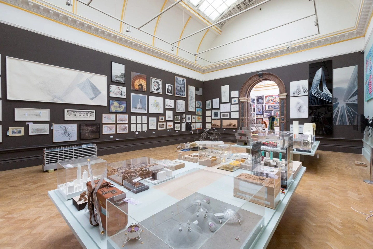 Architecture Room, Royal Academy Summer Exhibition 2014 © Benedict Johnson