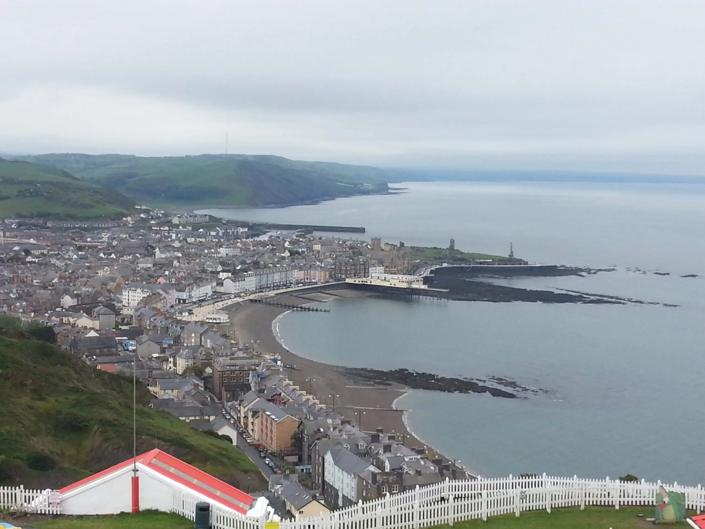 Aberystwyth view from constitution Hill
