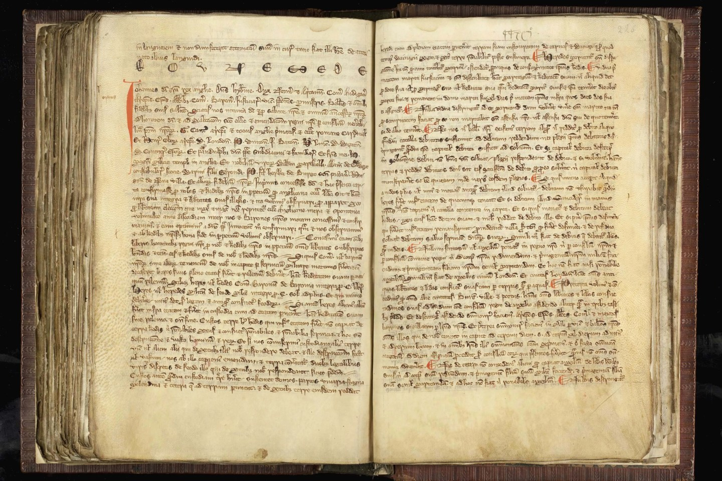 Black Book of Peterborough, Magna Carta