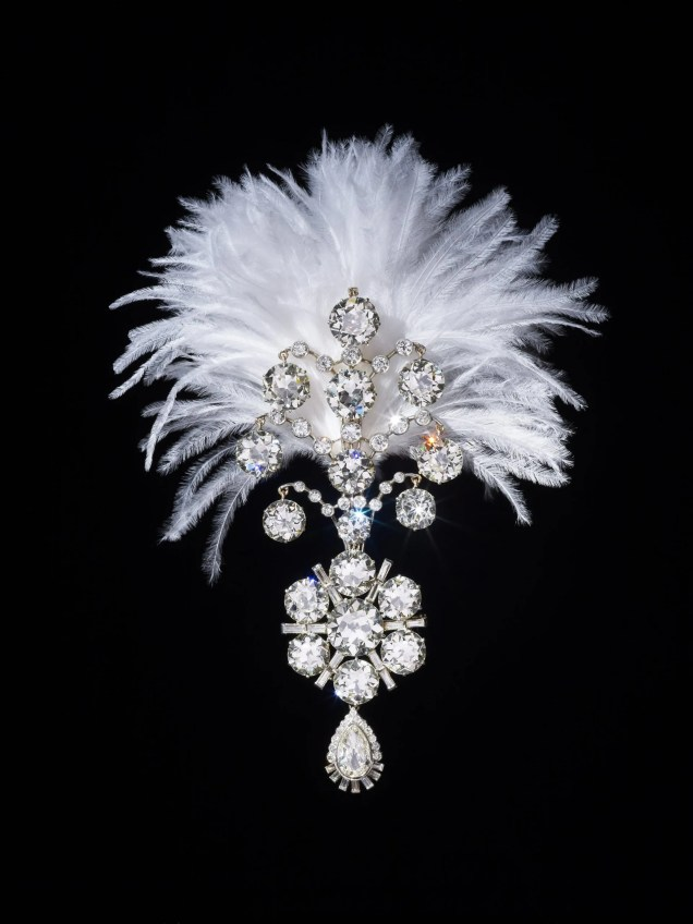 Diamond turban jewel made for the Maharaja of Nawanagar The Al Thani Collection © Servette Overseas Limited, 2014