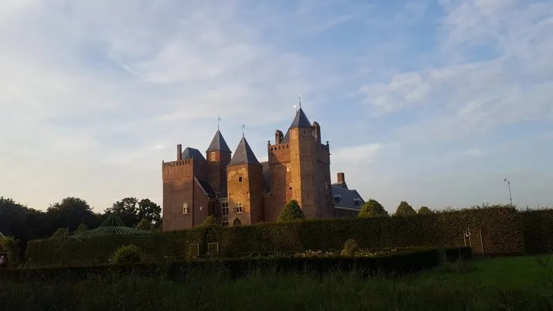 Fairy tale castle, Heemskerk Castle at sunset