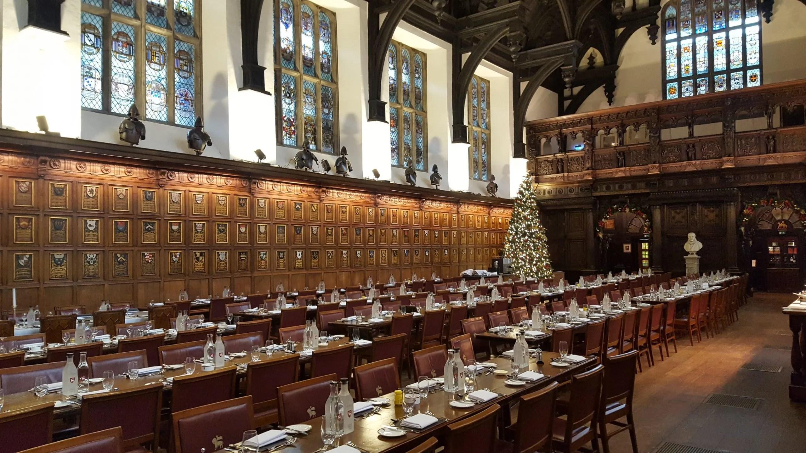 Hogwarts dining room